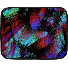 Native Blanket Abstract Digital Art Double Sided Fleece Blanket (mini)