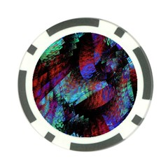Native Blanket Abstract Digital Art Poker Chip Card Guard (10 pack)