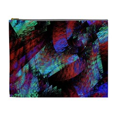 Native Blanket Abstract Digital Art Cosmetic Bag (XL)