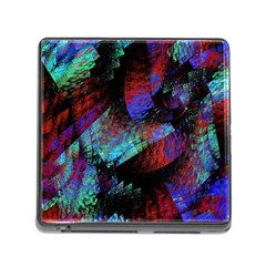 Native Blanket Abstract Digital Art Memory Card Reader (square)