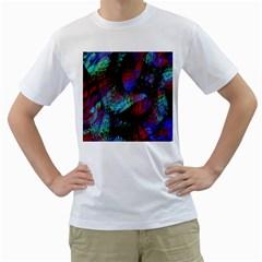 Native Blanket Abstract Digital Art Men s T Shirt (white)