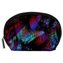 Native Blanket Abstract Digital Art Accessory Pouches (large)