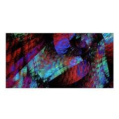 Native Blanket Abstract Digital Art Satin Shawl