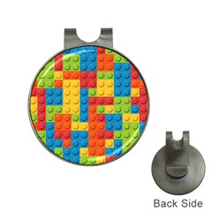 Lego Bricks Pattern Hat Clips with Golf Markers
