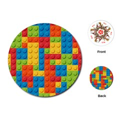 Lego Bricks Pattern Playing Cards (Round)