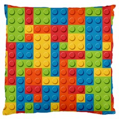 Lego Bricks Pattern Large Cushion Case (Two Sides)