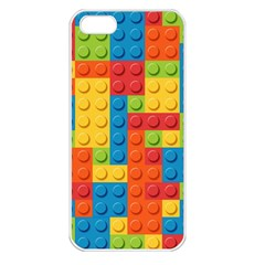 Lego Bricks Pattern Apple iPhone 5 Seamless Case (White)