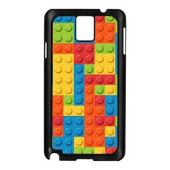 Lego Bricks Pattern Samsung Galaxy Note 3 N9005 Case (Black)