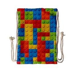 Lego Bricks Pattern Drawstring Bag (Small)