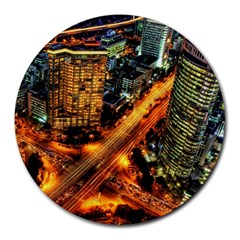 Hdri City Round Mousepads