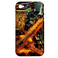 Hdri City Apple Iphone 4/4s Hardshell Case (pc+silicone)