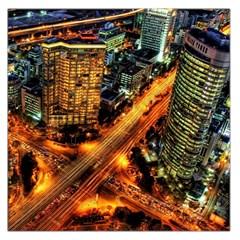 Hdri City Large Satin Scarf (Square)