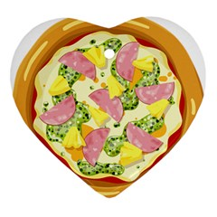 Pizza Clip Art Ornament (heart)
