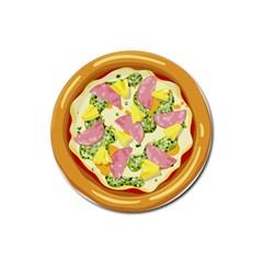 Pizza Clip Art Rubber Coaster (Round)