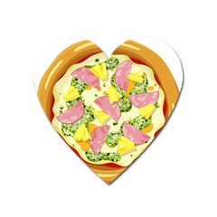 Pizza Clip Art Heart Magnet