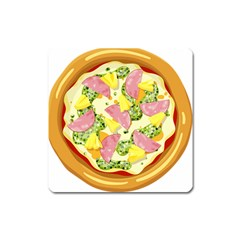Pizza Clip Art Square Magnet