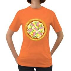 Pizza Clip Art Women s Dark T-Shirt