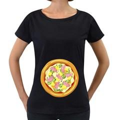 Pizza Clip Art Women s Loose-Fit T-Shirt (Black)