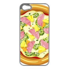 Pizza Clip Art Apple iPhone 5 Case (Silver)