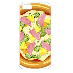 Pizza Clip Art Apple iPhone 5 Seamless Case (White)
