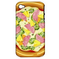 Pizza Clip Art Apple iPhone 4/4S Hardshell Case (PC+Silicone)
