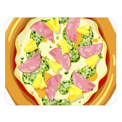 Pizza Clip Art Double Sided Flano Blanket (Large)