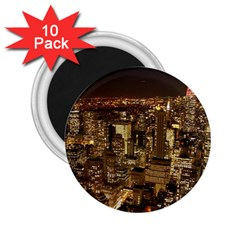 New York City At Night Future City Night 2 25  Magnets (10 Pack)