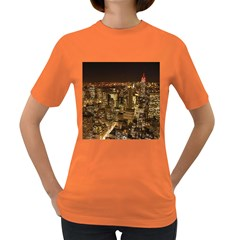 New York City At Night Future City Night Women s Dark T-Shirt