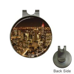 New York City At Night Future City Night Hat Clips with Golf Markers