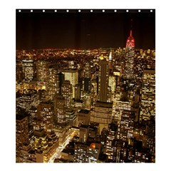 New York City At Night Future City Night Shower Curtain 66  x 72  (Large)