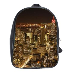 New York City At Night Future City Night School Bags(Large)