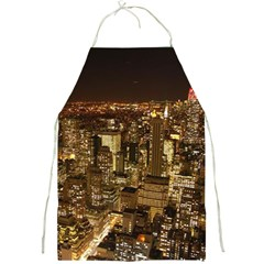 New York City At Night Future City Night Full Print Aprons