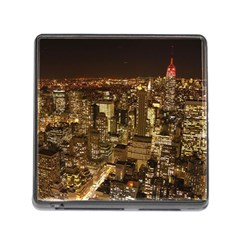 New York City At Night Future City Night Memory Card Reader (square)