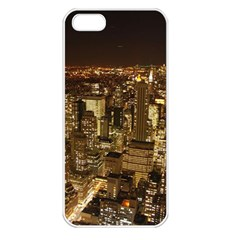 New York City At Night Future City Night Apple Iphone 5 Seamless Case (white)