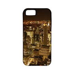 New York City At Night Future City Night Apple Iphone 5 Classic Hardshell Case (pc+silicone)