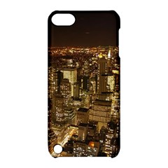 New York City At Night Future City Night Apple iPod Touch 5 Hardshell Case with Stand