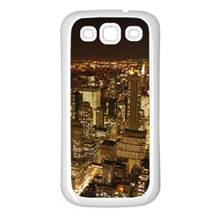 New York City At Night Future City Night Samsung Galaxy S3 Back Case (white)