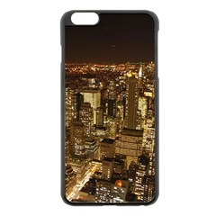 New York City At Night Future City Night Apple iPhone 6 Plus/6S Plus Black Enamel Case