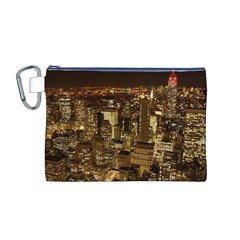 New York City At Night Future City Night Canvas Cosmetic Bag (M)
