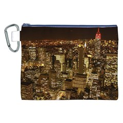 New York City At Night Future City Night Canvas Cosmetic Bag (xxl)