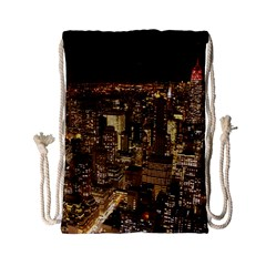 New York City At Night Future City Night Drawstring Bag (small)