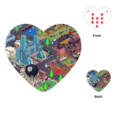 Pixel Art City Playing Cards (Heart)
