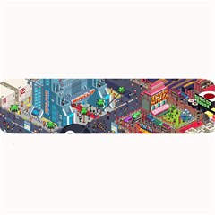 Pixel Art City Large Bar Mats