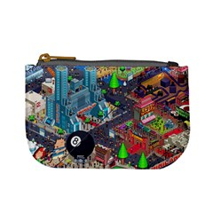 Pixel Art City Mini Coin Purses