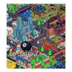 Pixel Art City Shower Curtain 66  X 72  (large)