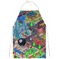 Pixel Art City Full Print Aprons