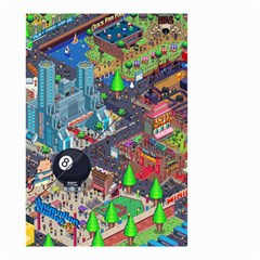 Pixel Art City Small Garden Flag (two Sides)