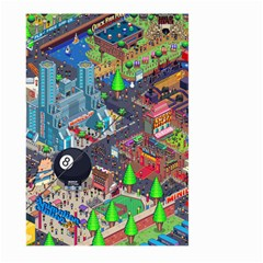 Pixel Art City Large Garden Flag (two Sides)