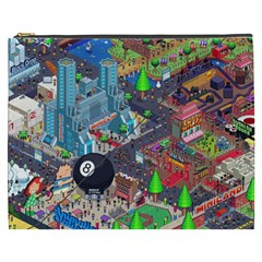 Pixel Art City Cosmetic Bag (XXXL)