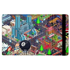 Pixel Art City Apple Ipad 2 Flip Case